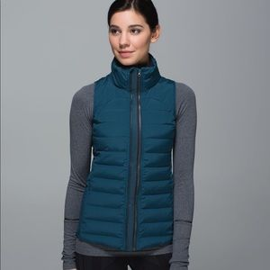 RARE Lululemon | Fluffed Up Vest Alberta Lake Teal